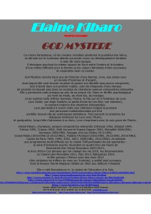 communiqué livre  God Mystère
